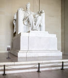 Washington DC. The famous Lincoln marble statue inside the Lincoln Memorial in Washington DC, USA royalty free stock images