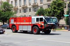 Washington DC fire truck. WASHINGTON, USA - JUNE 14, 2013: Washington DC Fire Department foam unit truck. The truck was manufactured by Oshkosh Corporation royalty free stock images