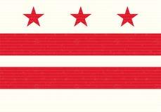 Washington DC. Flag Cardboard Background Stock Image