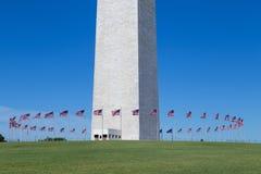 Washington, DC - Flaggen um die Basis Washington Monuments Lizenzfreie Stockbilder
