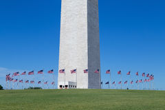 Washington, DC - Flags around the base of the Washington Monument Royalty Free Stock Images