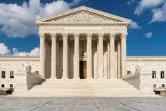 Washington DC, Gebäude Obersten Gerichts Vereinigter Staaten stockfotos