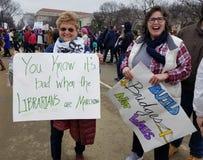 WASHINGTON DC - 21 GENNAIO 2017: ` S marzo delle donne su Washington Fotografia Stock Libera da Diritti