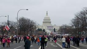 WASHINGTON DC - 21 GENNAIO 2017: ` S marzo delle donne su Washington Immagine Stock