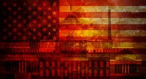 Washington DC Grunge Texture US Flag Illustration Stock Image