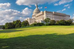 Washington DC, het Capitool van Verenigde Staten op Capitol Hill Stock Foto's