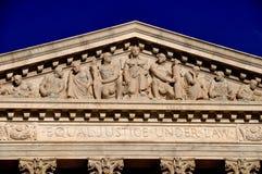 Washington DC: Högsta domstolen av Förenta staterna Royaltyfri Bild