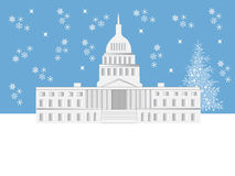 Washington DC Holiday Scene Stock Image
