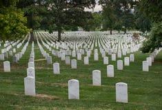 Washington DC huvudstad av Förenta staterna Arlington medborgarekyrkogård arkivbilder