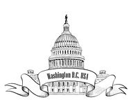 Washington DC icon Royalty Free Stock Photo