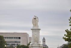 Washington DC, il 5 agosto: Statue del monumento di pace da Washington District di Colombia immagini stock