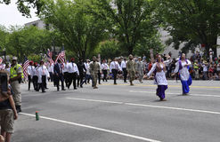 Washington DC, il 4 luglio 2017: La parata per la parata del 4 luglio da Washington District di Colombia U.S.A. Fotografie Stock