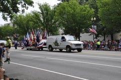 Washington DC, il 4 luglio 2017: La parata per la parata del 4 luglio da Washington District di Colombia U.S.A. Immagine Stock