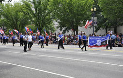 Washington DC, il 4 luglio 2017: La parata per la parata del 4 luglio da Washington District di Colombia U.S.A. Fotografia Stock