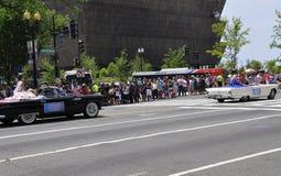 Washington DC, il 4 luglio 2017: La parata per la parata del 4 luglio da Washington District di Colombia U.S.A. Immagini Stock