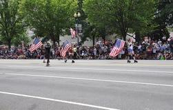 Washington DC, il 4 luglio 2017: La parata per la parata del 4 luglio da Washington District di Colombia U.S.A. Immagine Stock Libera da Diritti