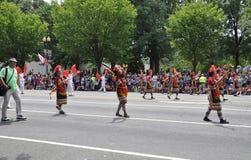 Washington DC, il 4 luglio 2017: La parata per la parata del 4 luglio da Washington District di Colombia U.S.A. Immagini Stock Libere da Diritti