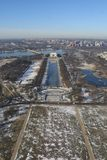 Washington DC In Winter, Aerial View Stock Photo
