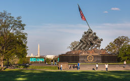 Washington DC Iwo Jima pomnik Obrazy Royalty Free