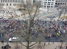 WASHINGTON DC - JAN 21, 2017: Kobiety ` s Marzec na Waszyngton Zdjęcia Stock