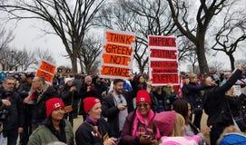 WASHINGTON DC - JAN 21, 2017: Kobiety ` s Marzec na Waszyngton Obrazy Stock