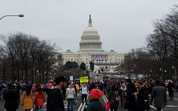 WASHINGTON DC - JAN 21, 2017: Women`s March on Washington Royalty Free Stock Photo
