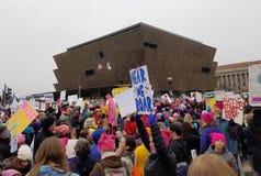 WASHINGTON DC - 21 JANUARI, 2017: Vrouwen ` s Maart op Washington Royalty-vrije Stock Fotografie