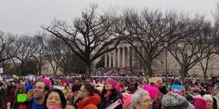 WASHINGTON DC - 21 JANUARI, 2017: Vrouwen ` s Maart op Washington Stock Fotografie