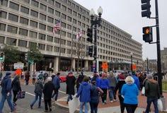 WASHINGTON DC - 21 JANVIER 2017 : ` De femmes s mars sur Washington Images libres de droits