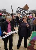 WASHINGTON DC - 21 JANVIER 2017 : ` De femmes s mars sur Washington Photos stock