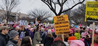 WASHINGTON DC - 21 JANVIER 2017 : ` De femmes s mars sur Washington Photo stock