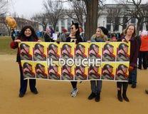 WASHINGTON DC - 21 JANVIER 2017 : ` De femmes s mars sur Washington Images stock