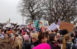 WASHINGTON DC - 21 JANVIER 2017 : ` De femmes s mars sur Washington Photographie stock