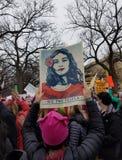 WASHINGTON DC - 21 JANVIER 2017 : ` De femmes s mars sur Washington Photos libres de droits