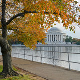 Washington DC, Jefferson Memorial in Autumn Stock Photography