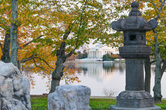 Washington DC, Jefferson Memorial in de Herfst Stock Foto