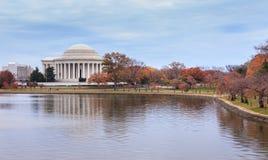 Washington DC Jefferson Memorial en otoño fotos de archivo libres de regalías
