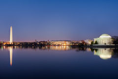 Washington DC - Jefferson Memorial and Monument Stock Photography