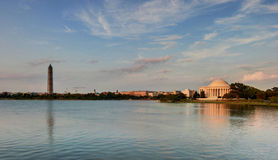 Washington DC - Jefferson Memorial and Monument Stock Image
