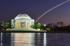Washington DC - Jefferson Memorial na noite Imagem de Stock