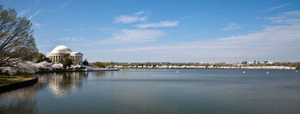 Washington DC Jefferson Memorial Panorama Royalty Free Stock Images