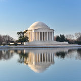 Washington DC - Jefferson Memorial an reflection on pool Royalty Free Stock Photography