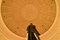 Washington DC, Jefferson Memorial - Statue of Thomas Jefferson Stock Photos
