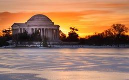 Washington DC Jefferson Memorial Sunrise Imagem de Stock