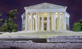 Washington DC Jefferson Memorial Winter Photo stock