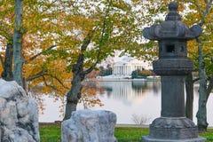 Washington DC, Jefferson pomnik w jesieni Zdjęcie Stock