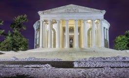 Washington DC Jefferson pomnika zima Zdjęcie Stock