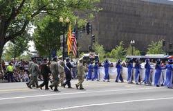 Washington DC, am 4. Juli 2017: Amerikaner in der Parade am 4. Juli vom Washington DC in USA Lizenzfreie Stockbilder