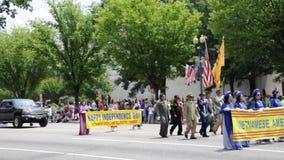 Washington DC, 4 Juli 2017: De Parade voor 4 Juli van Washington District van Colombia de V.S. stock videobeelden