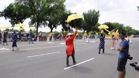 Washington DC, 4 Juli 2017: De Parade voor 4 Juli van Washington District van Colombia de V.S. stock video
